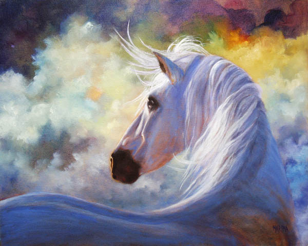 marina petro adventures in daily painting spirit horse On oil horse paintings