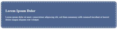 CSS Tricks: Giving a Blue Jeans Stitched Appearance