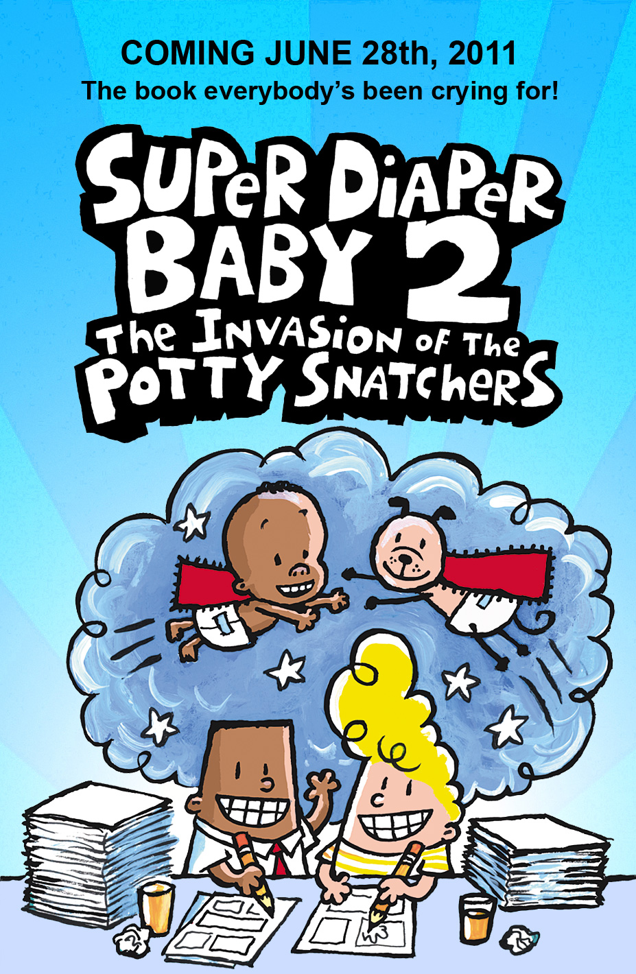how to draw super diaper baby characters