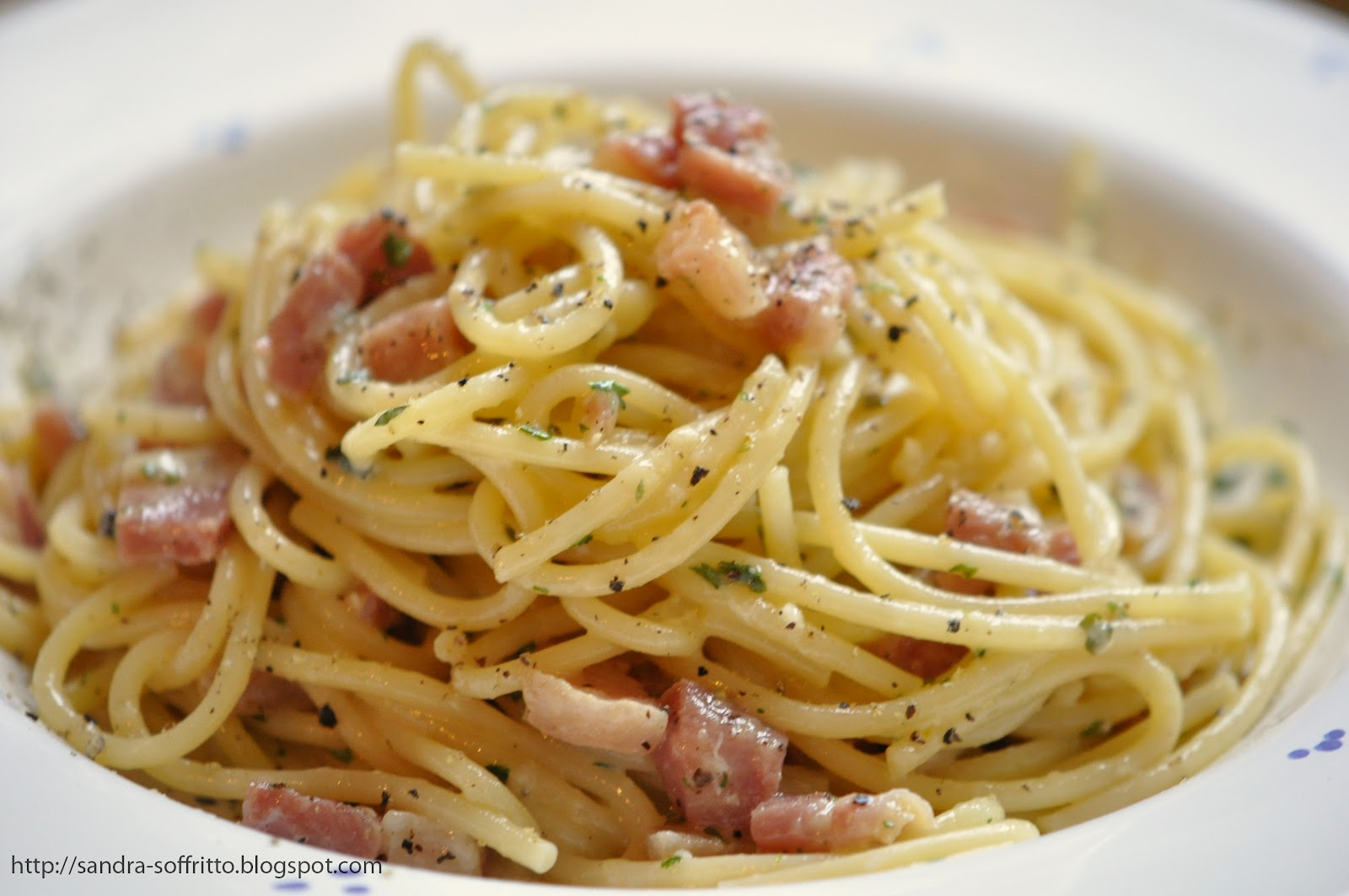 pasta carbonara one of my favorites and it was the right day yesterday ...