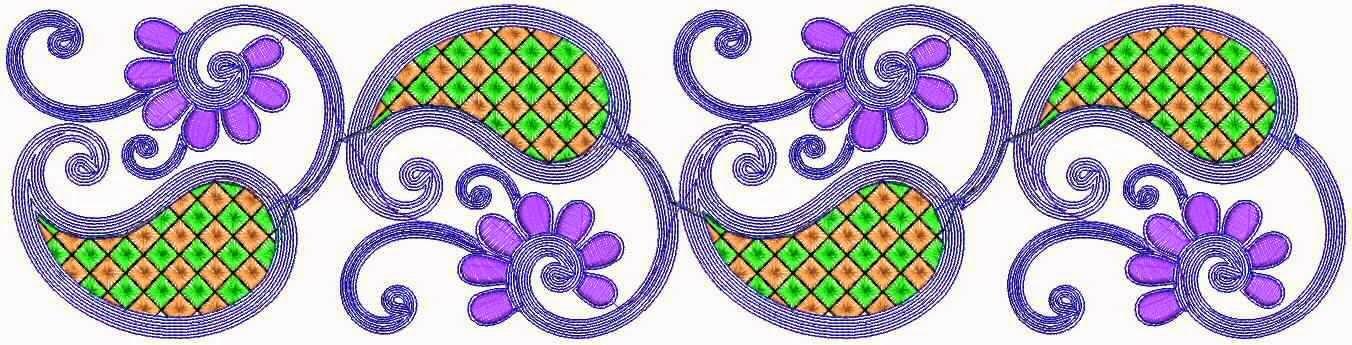 Paisley tema Kant grens ontwerp