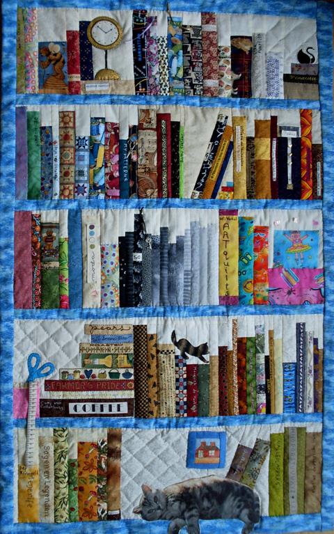 Applique addict bookcase quilt for Patchwork quilt book