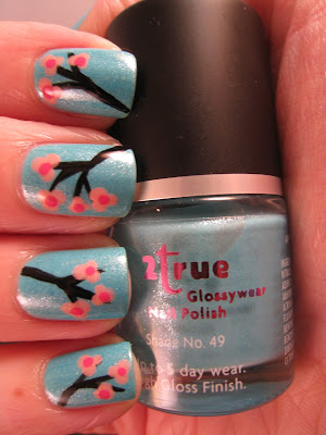 2True-shade-49-cherry-blossom-nail-art