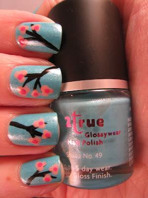 2True-shade-49-cherry-blossom-nail-art