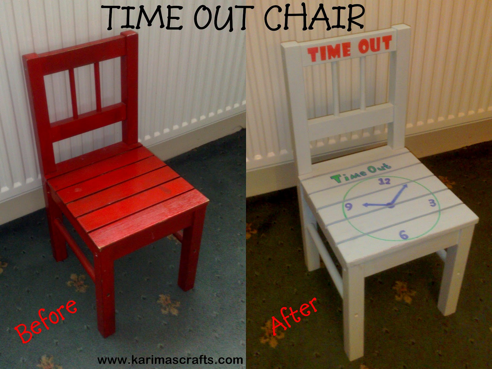 Karima 39 S Crafts Time Out Chair Tutorial
