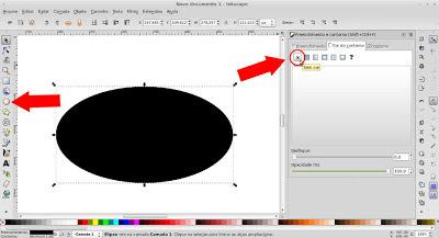Inkscape - criando uma elipe