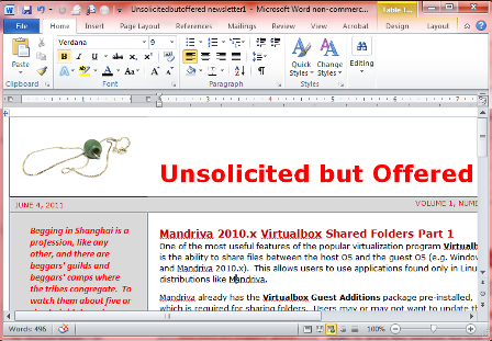 Ms Word 2007-2010 Corporate Newsletter Part 1: Send A Newsletter