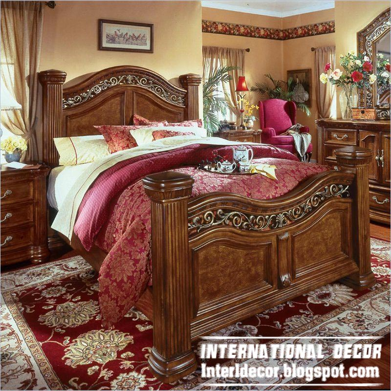 Turkish bed designs for classic bedrooms furniture Wooden furniture design for bedroom