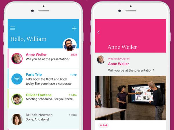 Microsoft Send, app para iOS