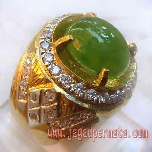 Natural Idocrase Cincin Perak Sepuh Emas Jual Batu