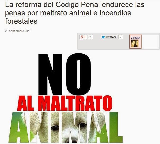 Codigo penal maltrato animal