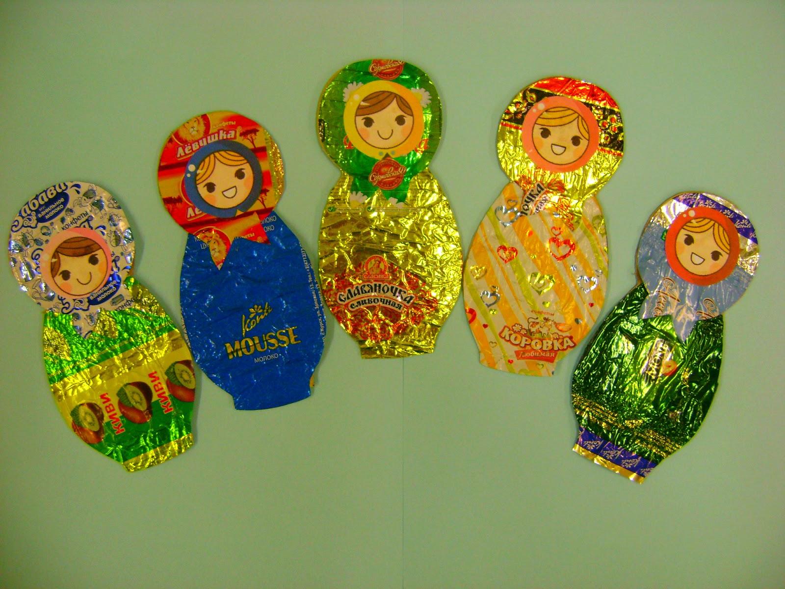 Поделки из фантиков от конфет мастер-класс