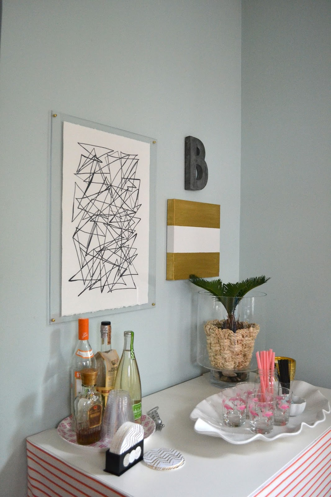 Ethan Allen Wall Art knock off ethan allen art (scribbling) in an acrylic frame
