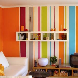 parede listrada para decoração