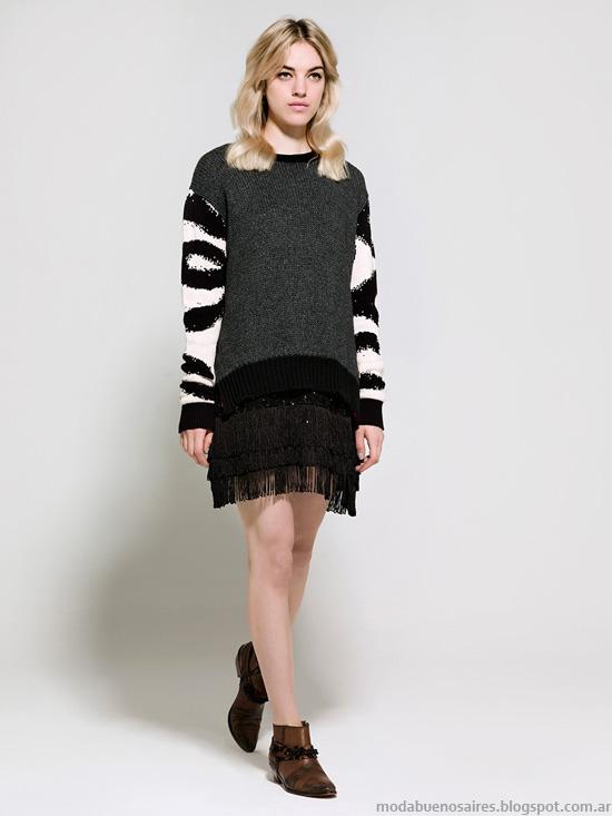 Moda invierno 2014 sweaters tejidos de moda 2014.