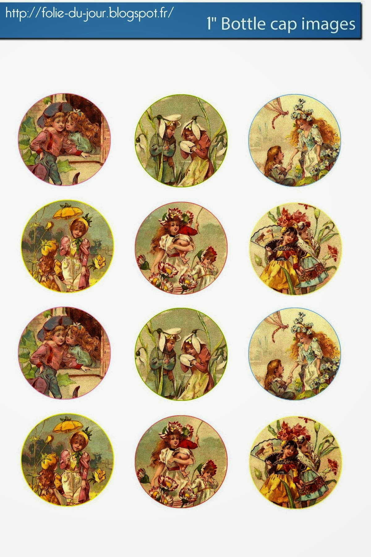 Free bottle cap images free vintage children and flower for How to make bottle cap flowers