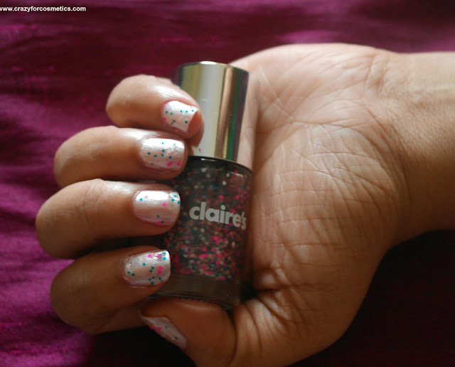 Graffiti nail color from Claire's NOTD