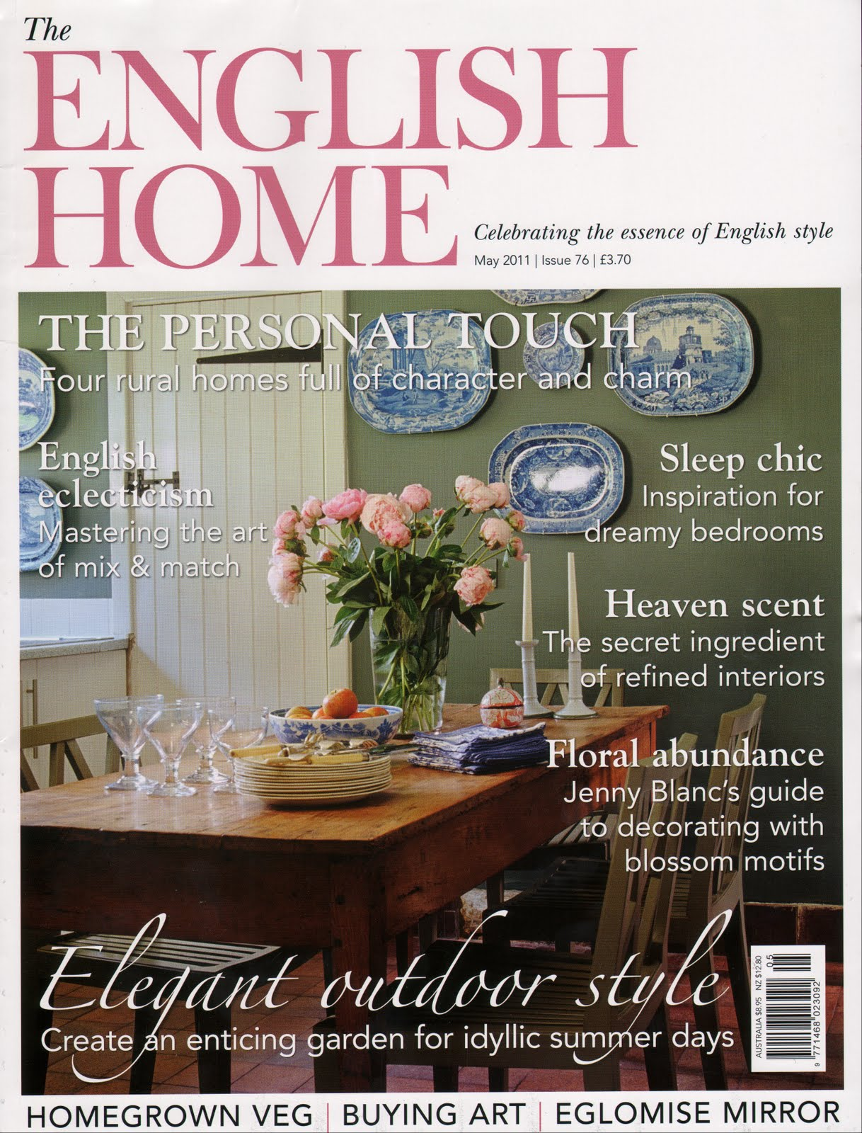 Turner pocock the english home magazine may 2011 for English house magazine