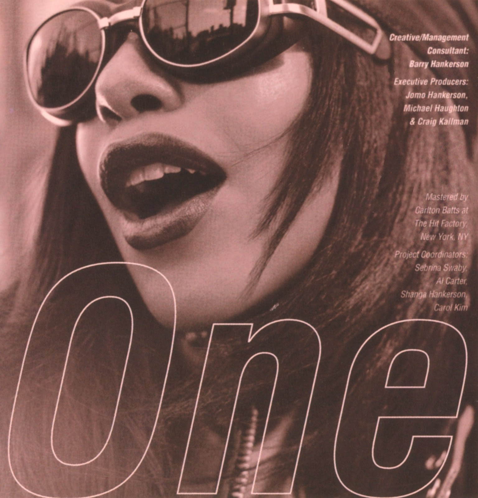 Aaliyah One In A Million album booklet  August 27  1996 Aaliyah One In A Million Album Cover