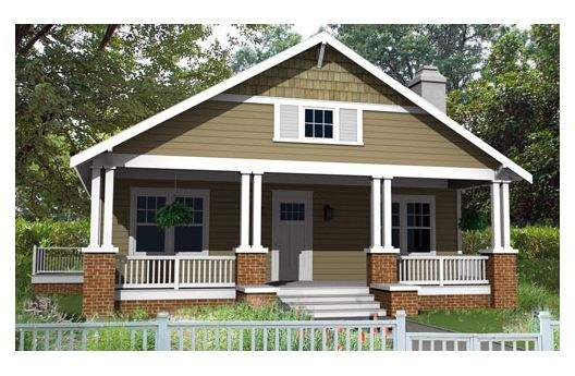 Bungalow house design was designed by designer Houseplans .