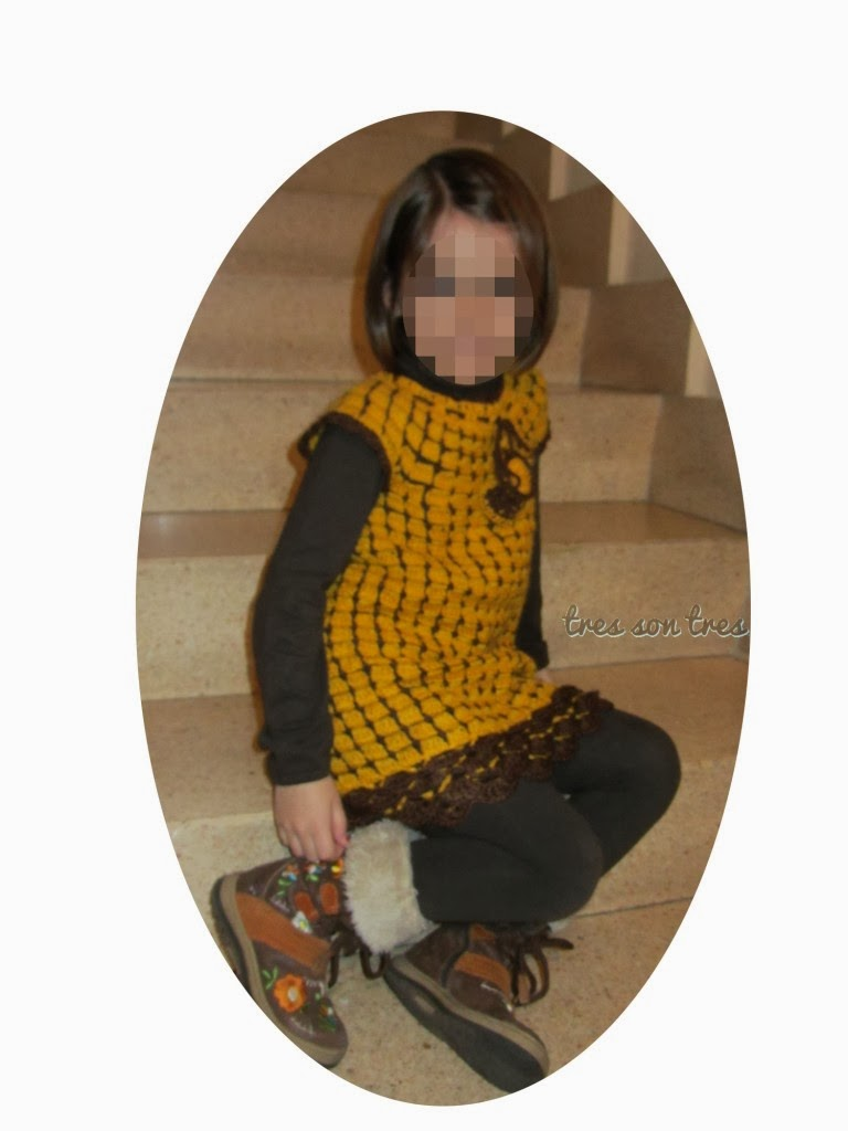 vestido, dress, niños, ganchillo, crochet,