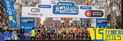 Media maratón de Barcelona (España, 15/feb/2015)