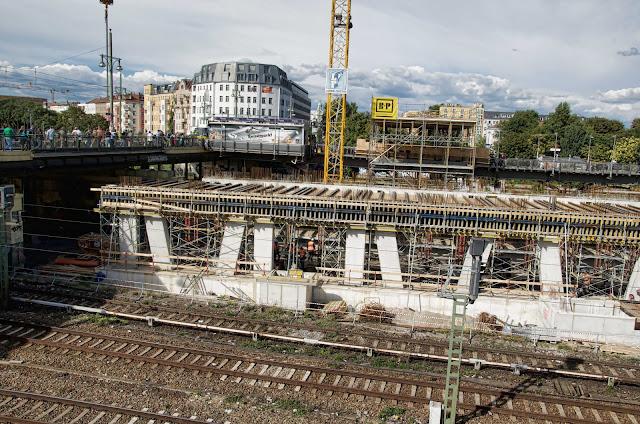 Baustelle, Warschauer Brücke, Eingangsgebäude S-Bahnhof Warschauer Straße 36, 10243 Berlin, 27.08.2014