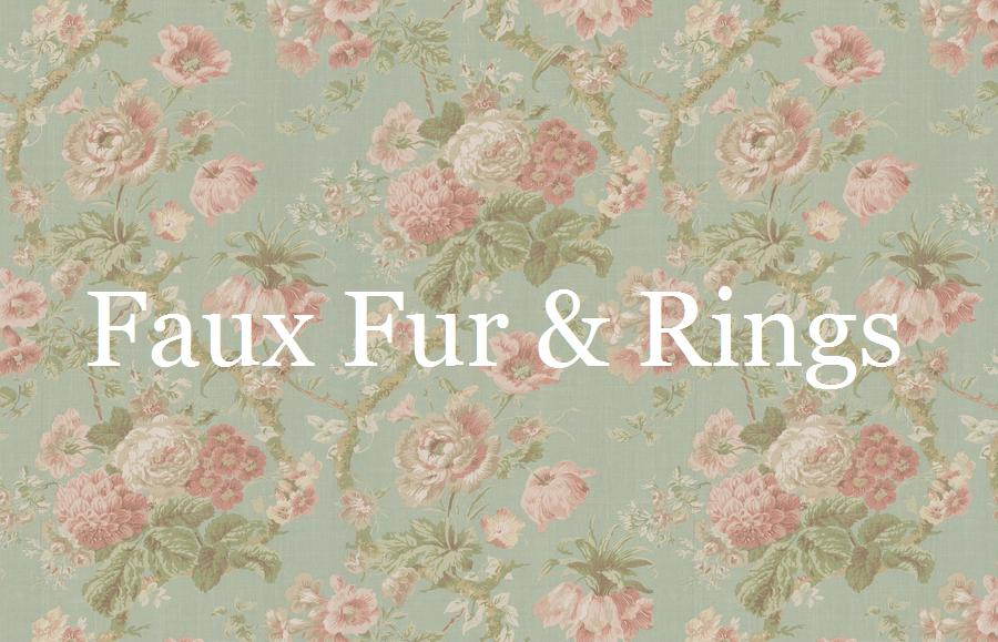 Faux Fur and Rings