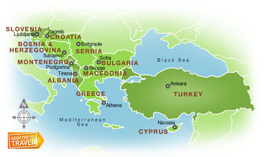 map of southern europe pictures