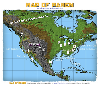 Map of Panem www.hungergameslessons.com