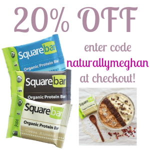 20% off Squarebars with my discount code!