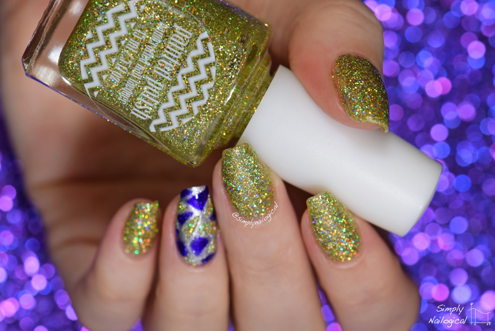 Painted Polish - Loopy on Lime Gold
