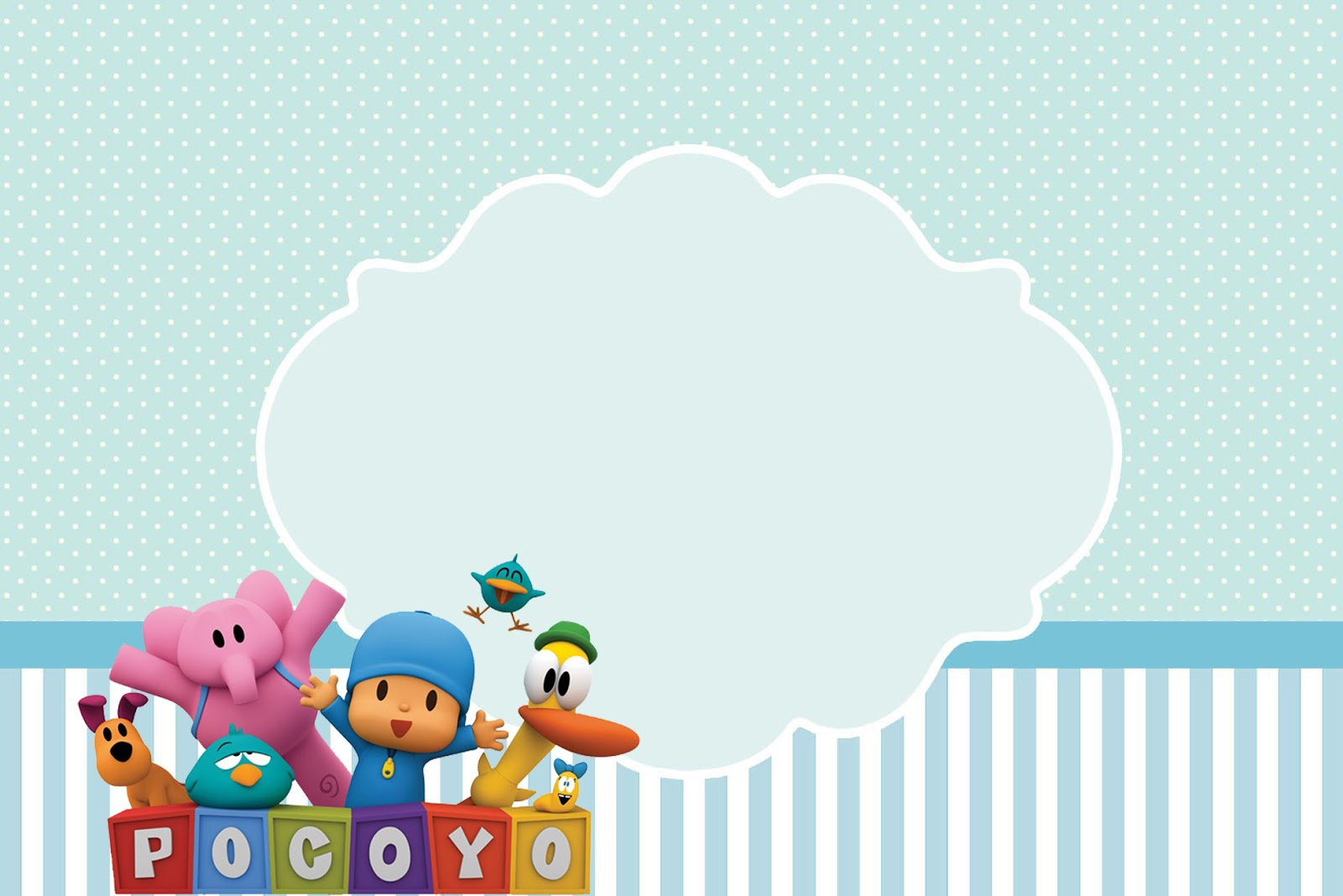Pocoyo Birthday Invitations is Inspiring Sample To Create Unique Invitation Sample