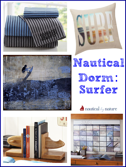 Nautical by Nature Blog: Nautical Dorm Room Decor: Surfer