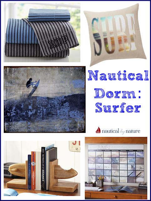 Nautical by Nature Blog: Nautical Dorm Room Decor: Surfer