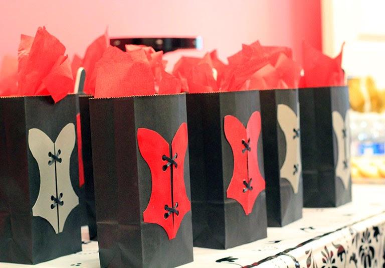 corset gift bags