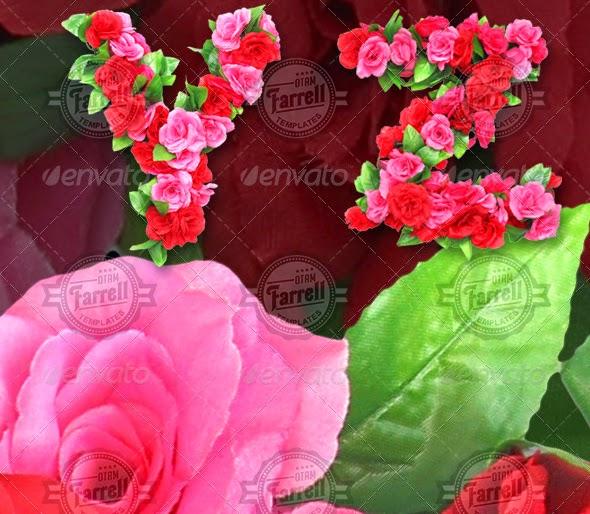 Roses Alphabet « Free File Designer