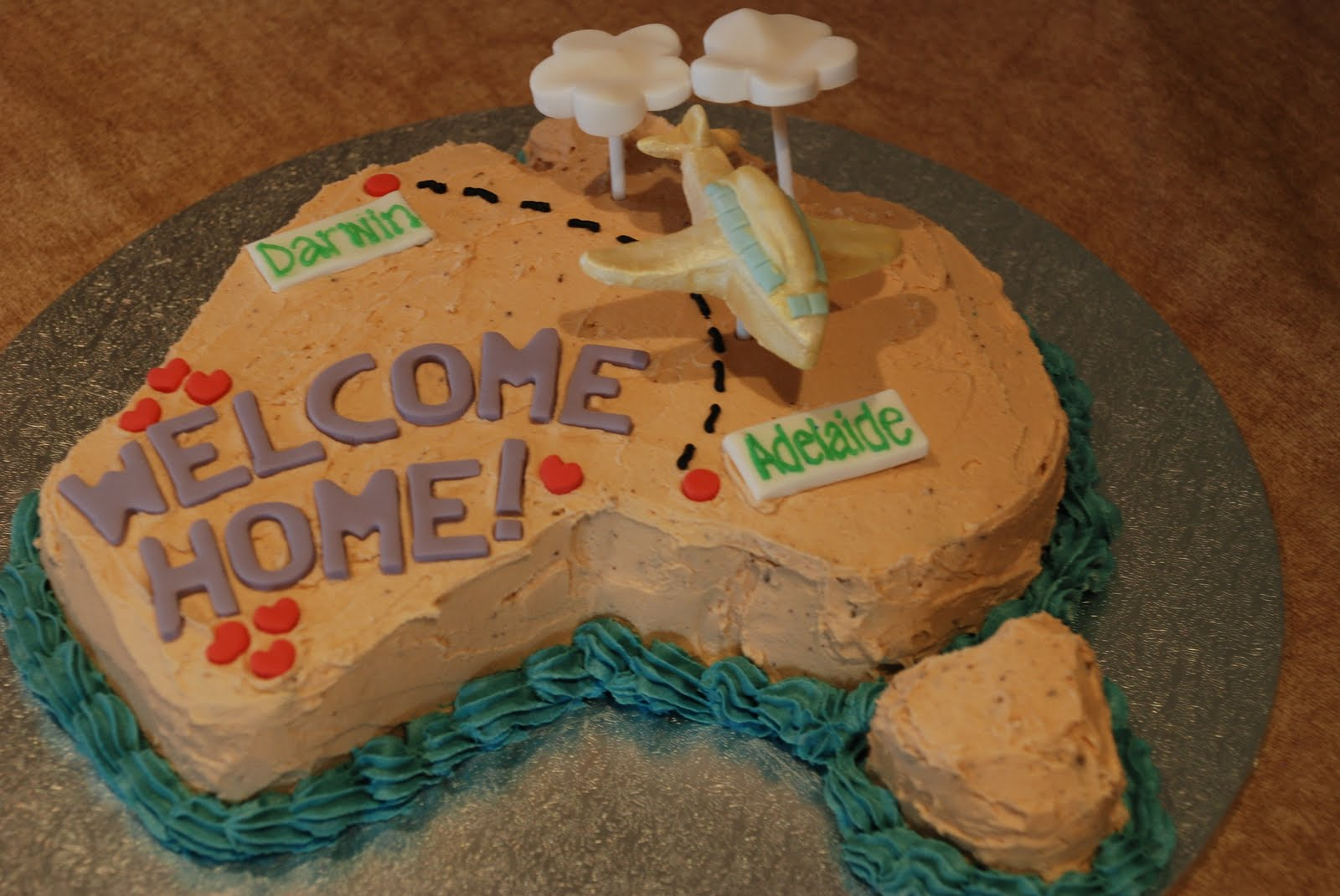 Welcome home sister cake ideas and designs for Welcome home cake decorations