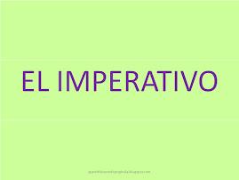 El imperativo (formas verbales)