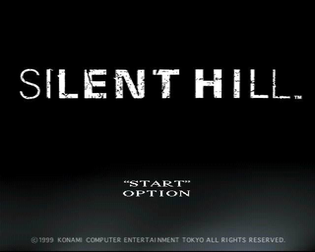 Silent Hill Playstation title screen