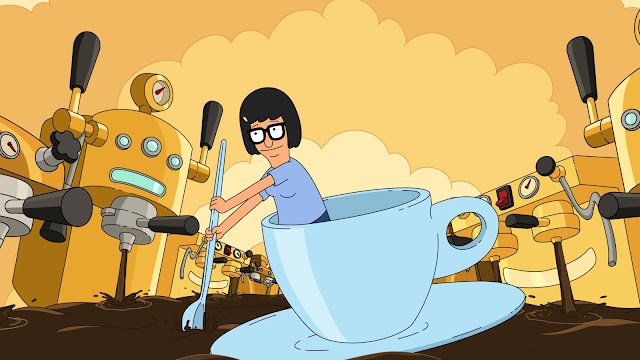 Tina's new fanfic combines her love for butt-touching with her newfound love for espresso. It's called Star-Butts.