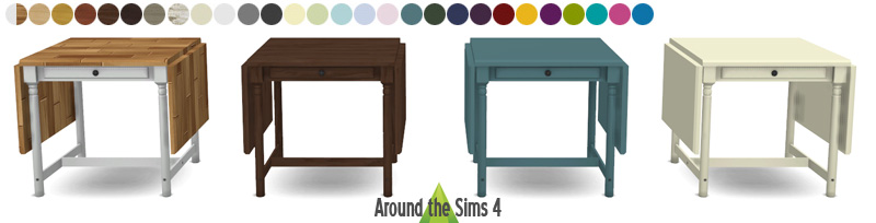 My sims 4 blog ikea folded tables chairs by sandy around the sims - Grande table pliante ikea ...