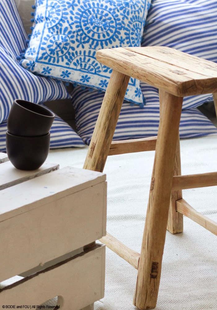 Antique Elm stool Naturals Stools Handmade