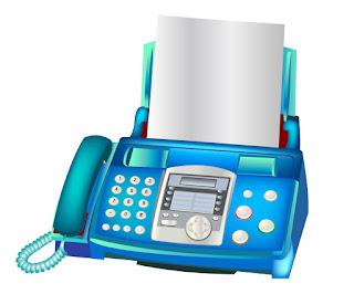 ファックス電話機 Fax machine イラスト素材