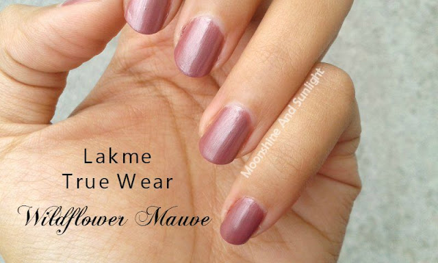 Lakme Truewear Wildflower Mauve Swatch , Review