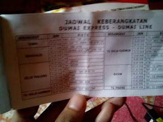 Jadwal Pelayaran Dumai Express