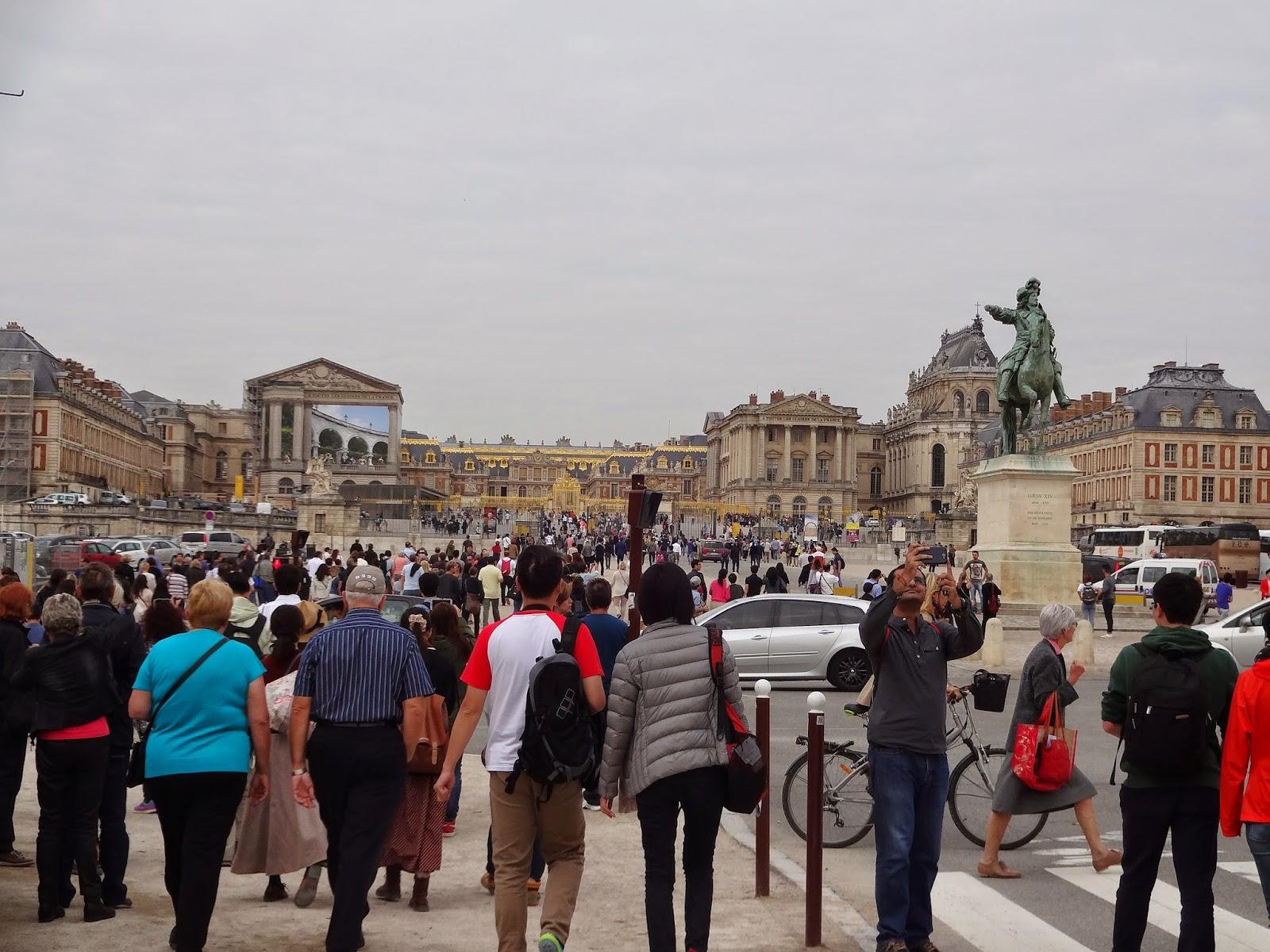 Chegada ao Palácio de Versalhes