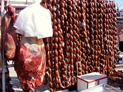Turkish Food - Deve Sucuk or Camel Sausage