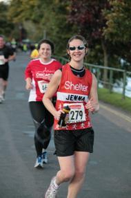 Mile 26 of the Loch Ness Marathon