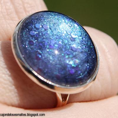 Nail polish jewelry ring - anillo con esmalte de uñas